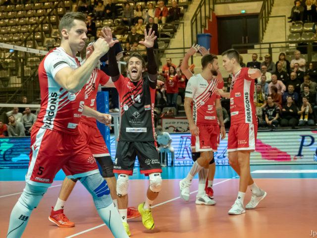 Les Dragons balaient Poitiers 3 à 0 !