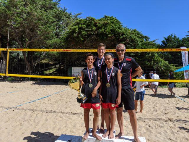 Les M13 remportent la Coupe de France Beach 2020