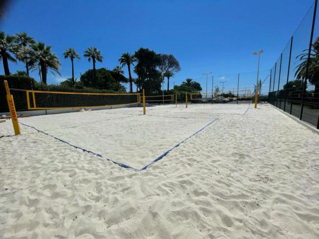 Ouverture des nouveaux terrains de Beach Volley au parc Picaud